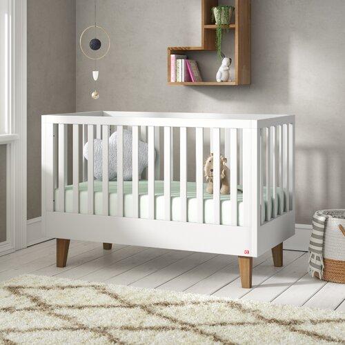 Babybett Danna | Kinderzimmer > Babymöbel > Babybetten & Babywiegen | Grau | Eichenholz | Harriet Bee