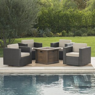 Rosecliff Heights Cirillo 5 Piece Conversation Set with Cushions