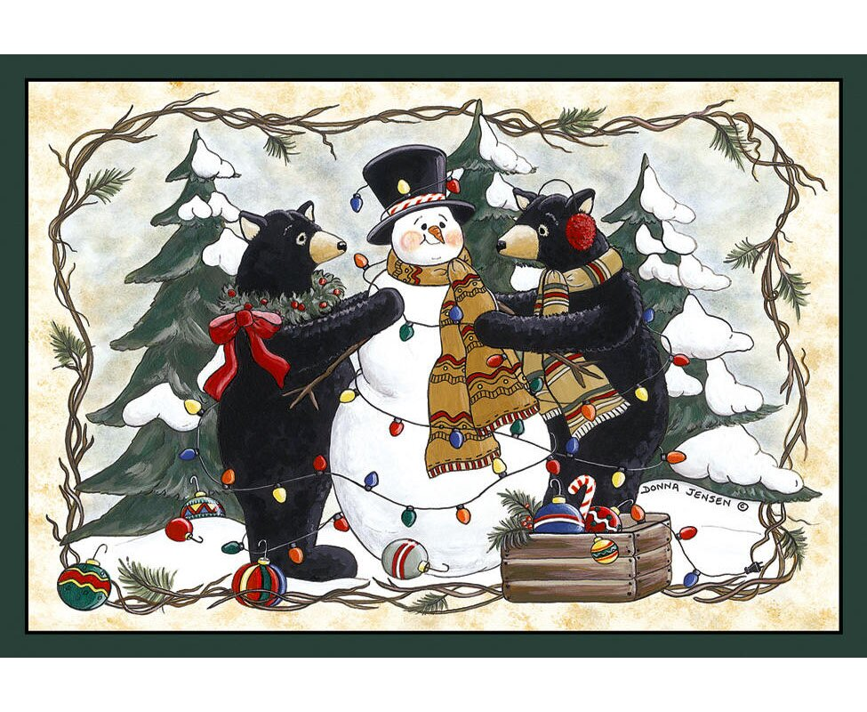 Home Accents Bears and Snowman Rug from Wayfair!
