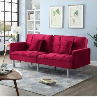 Red Plaid Sleeper Sofa | Wayfair