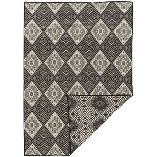 Shop For Brooking Hand-Woven Rectangle Black/Gray Area Rug By Foundry Select