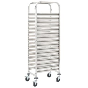 16 Trays Stainless Steel Serving Cart By Symple Stuff
