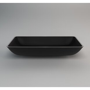 Nek Metal  Rectangular Vessel Bathroom Sink By Maestro Bath