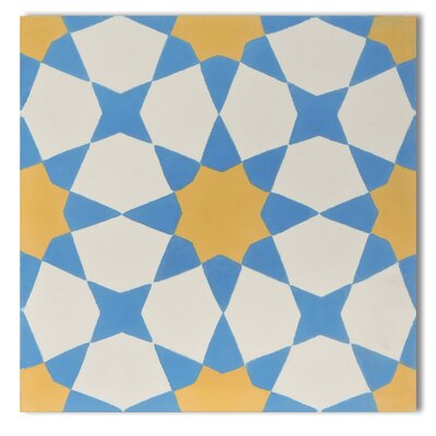 Moroccan Mosaic SAMPLE - Medina Cement Field Tile Color: Yellow/Blue