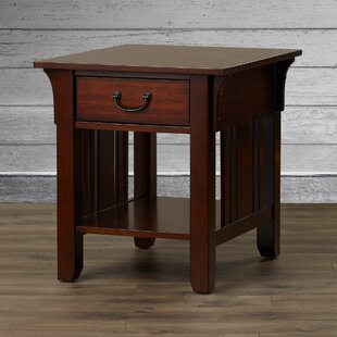 Reviews Schubert End Table By Three Posts