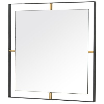 Brayden Studio Square Iron Accent Mirror