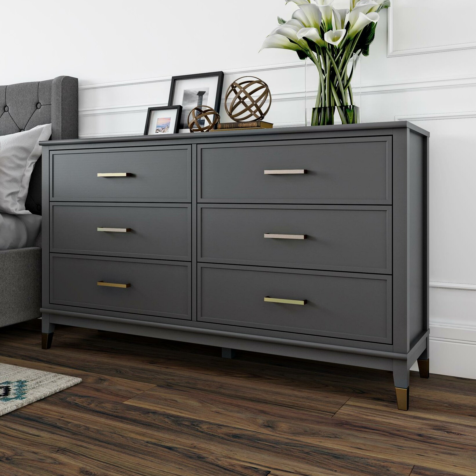 Cosmoliving By Cosmopolitan Westerleigh 6 Drawer Double Dresser