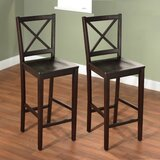 Powe Solid Wood 30 Bar Stool (Set of 2) by Andover Mills™