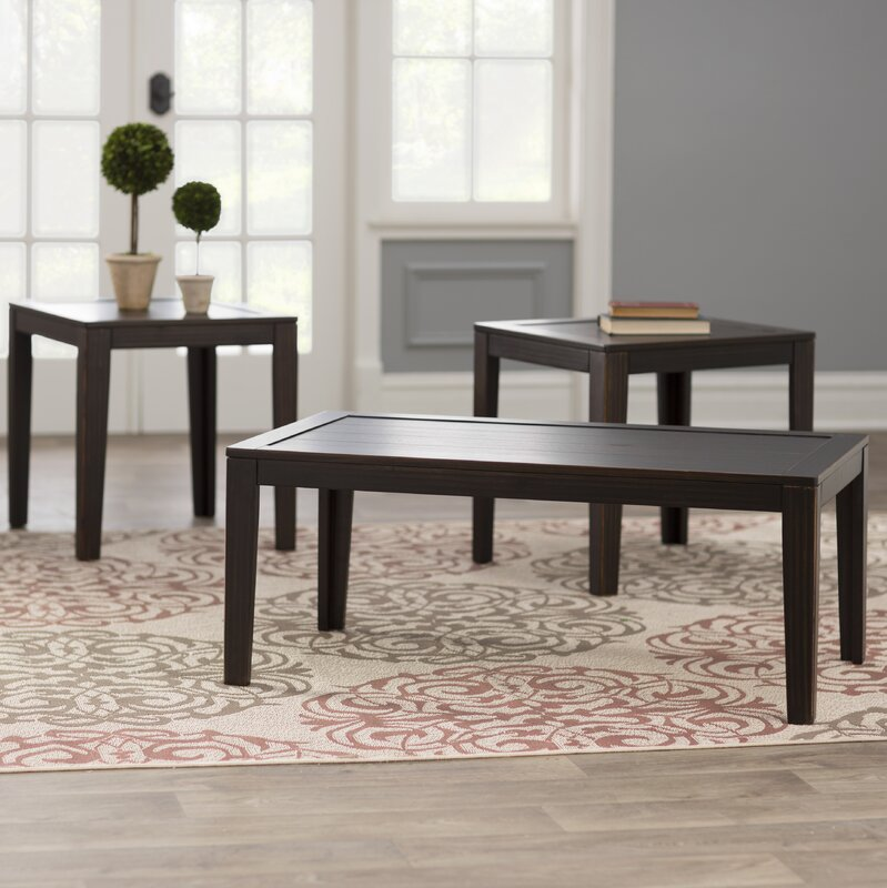 Three Posts Elizabeth 3 Piece Coffee Table Set & Reviews | Wayfair