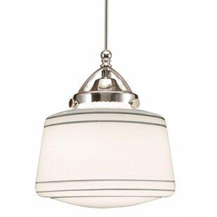 WAC Lighting Plymouth 1-Light LED Schoolhouse Pendant