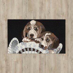 Order Arpdale Black Beagles Area Rug ByCharlton Home