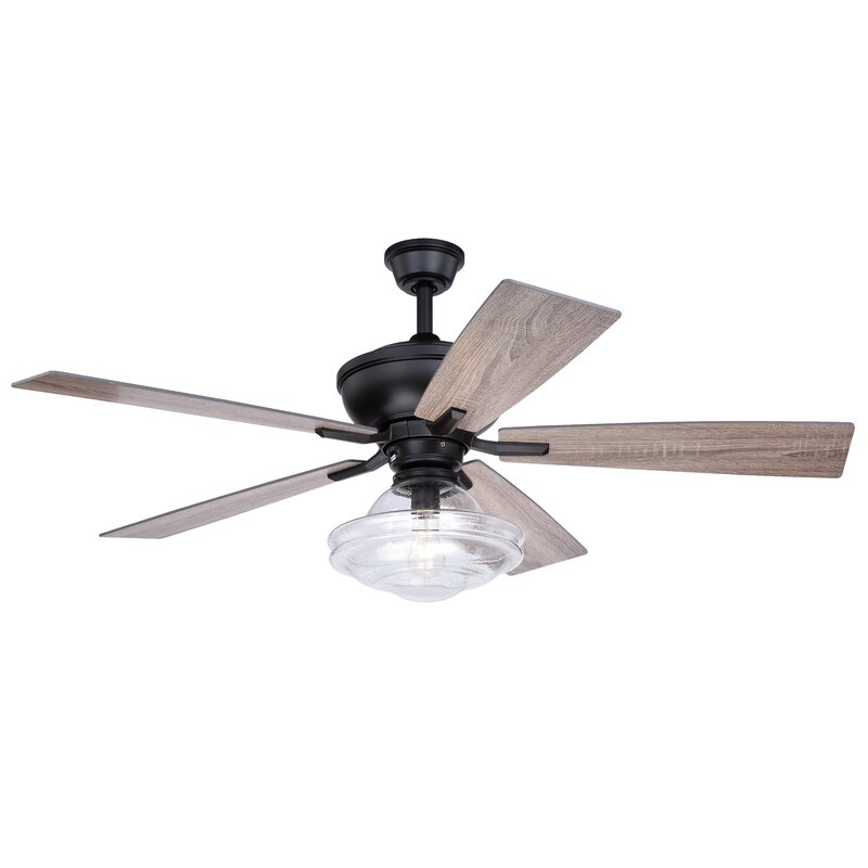 Laurel Foundry Modern Farmhouse 52 Hirsch 5 Blade Standard Ceiling Fan With Remote Control And Light Kit Included Reviews