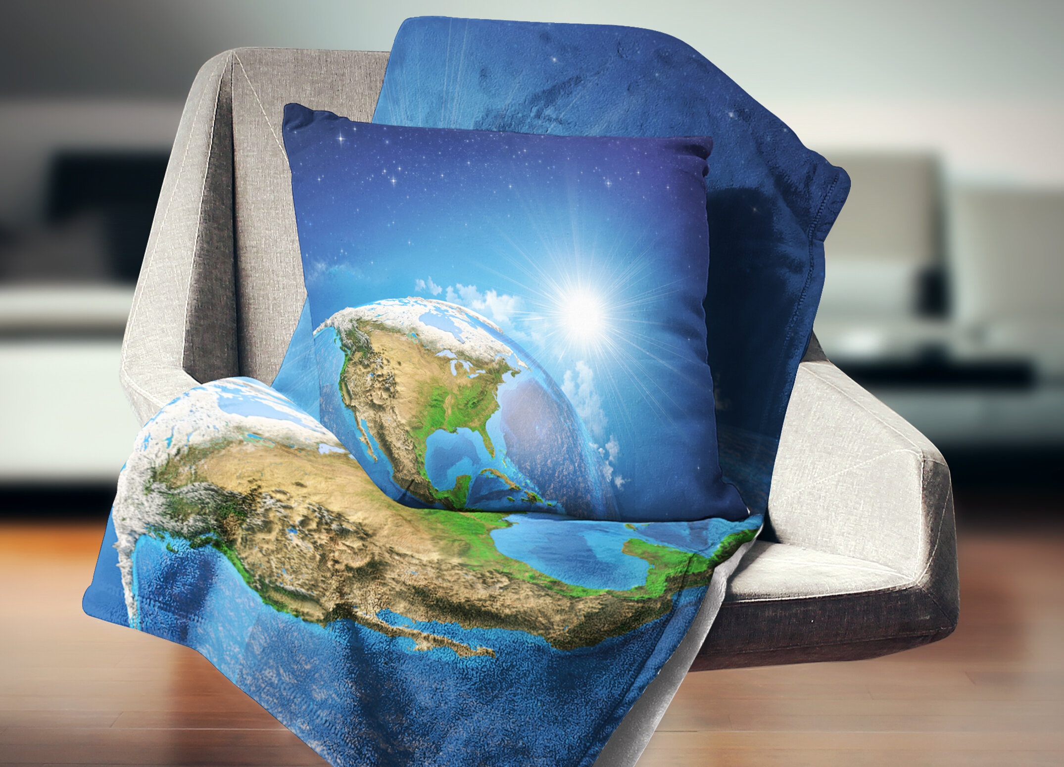 East Urban Home Abstract Sunrise Over The Earth Landscape Pillow Wayfair