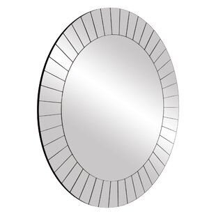 Wrought Studio Henriette Frameless Beveled Wall Mounted Accent Mirror