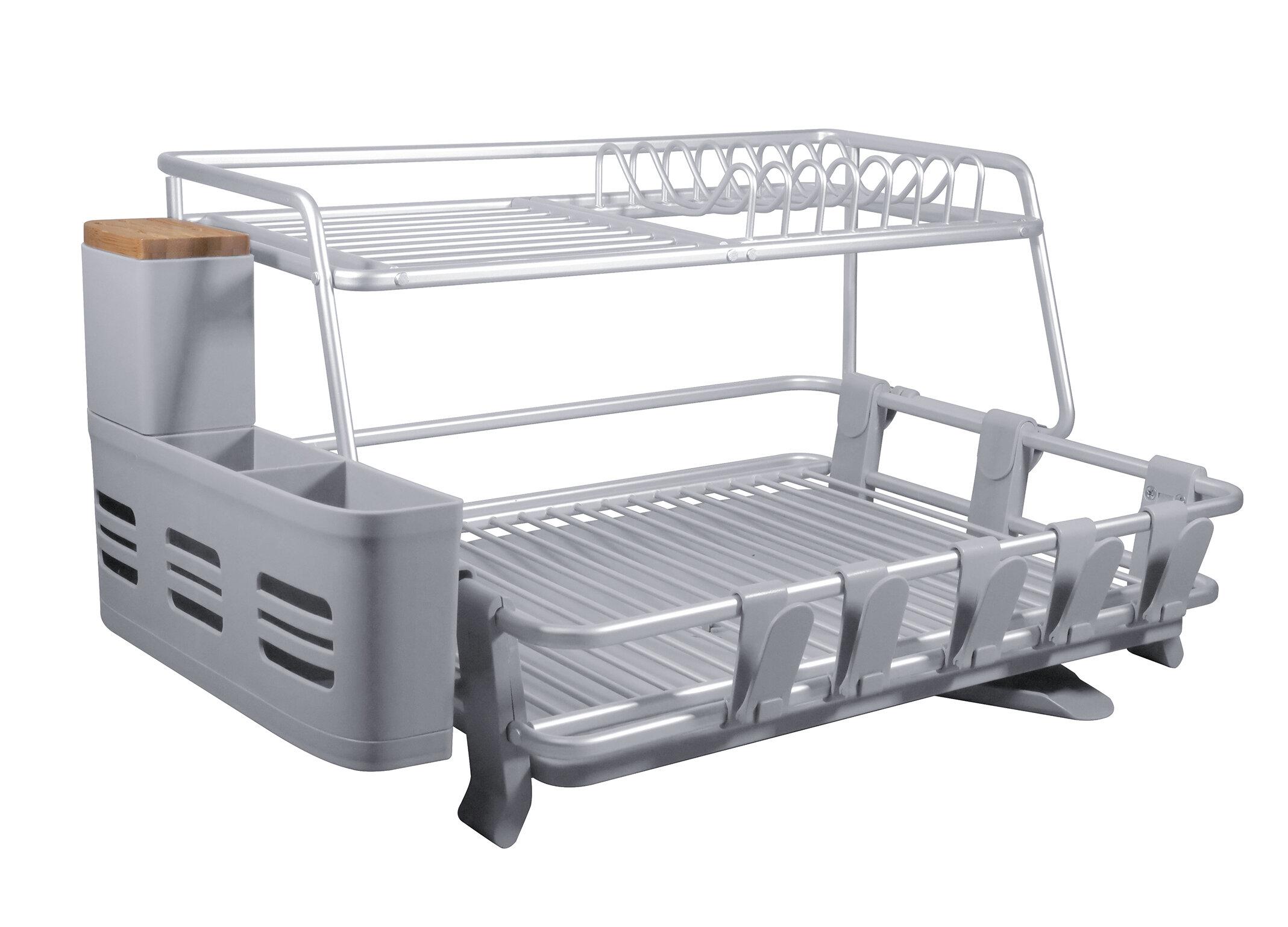 cozyblock aluminum 2 tier dish rack