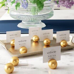 Round Wedding Place Card Holder (Set of 8)