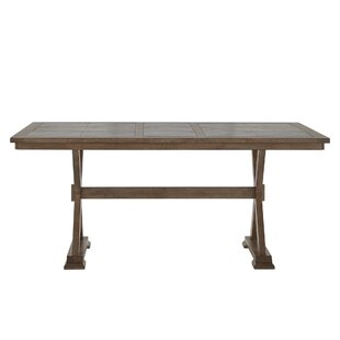 Laurel Foundry Modern Farmhouse Gertz Trestle Base Dining Table
