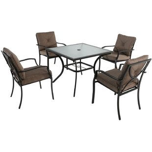 Winston Porter LeRay 5 Piece Dining Set with Cushions