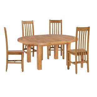 Covarrubias 5 Piece Extendable Solid Wood Dining Set Loon Peak