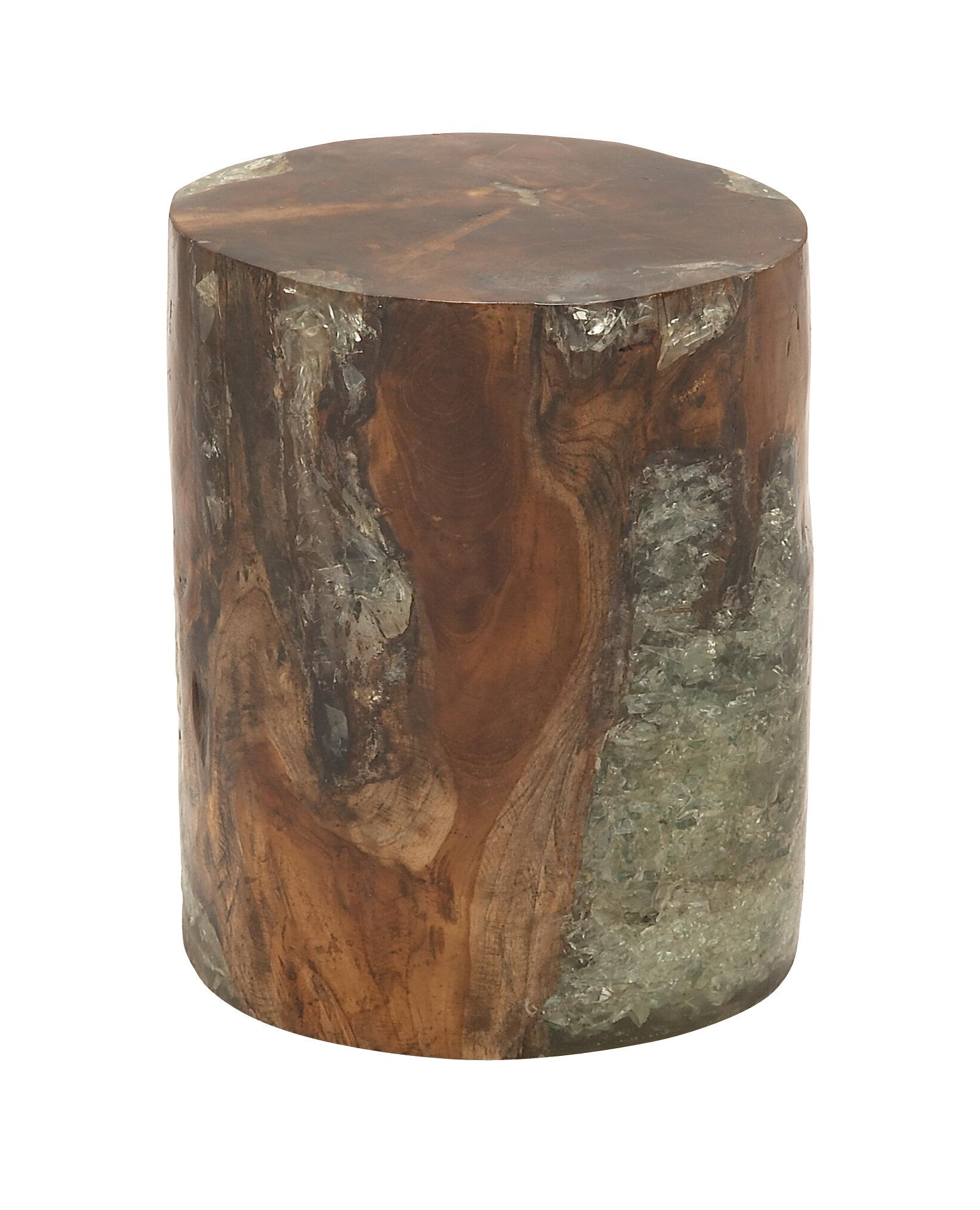 Wood Teak and Resin Garden Stool & Reviews   AllModern