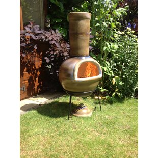 Clay Charcoal/Wood Burning Chimenea By Gardeco