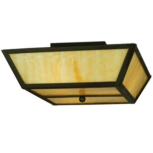 Meyda Tiffany Madera 3-Light Flush Mount