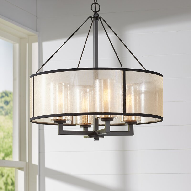 Dailey 4-Light Drum Chandelier & Brayden Studio Dailey 4-Light Drum Chandelier u0026 Reviews | Wayfair azcodes.com