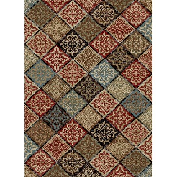 New York Mosaic Brown Area Rug