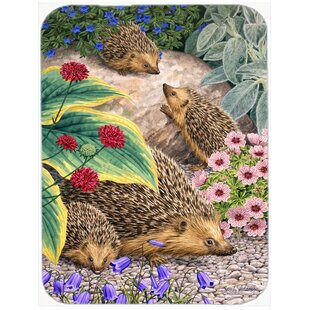 Hedgehogs Glass Cutting Board