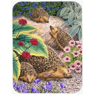 Hedgehogs Glass Cutting Board