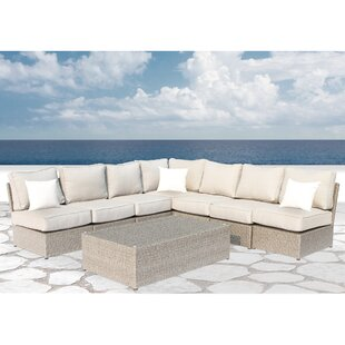 Rosecliff Heights Winsford 8 Piece Sectional Set with Cushions