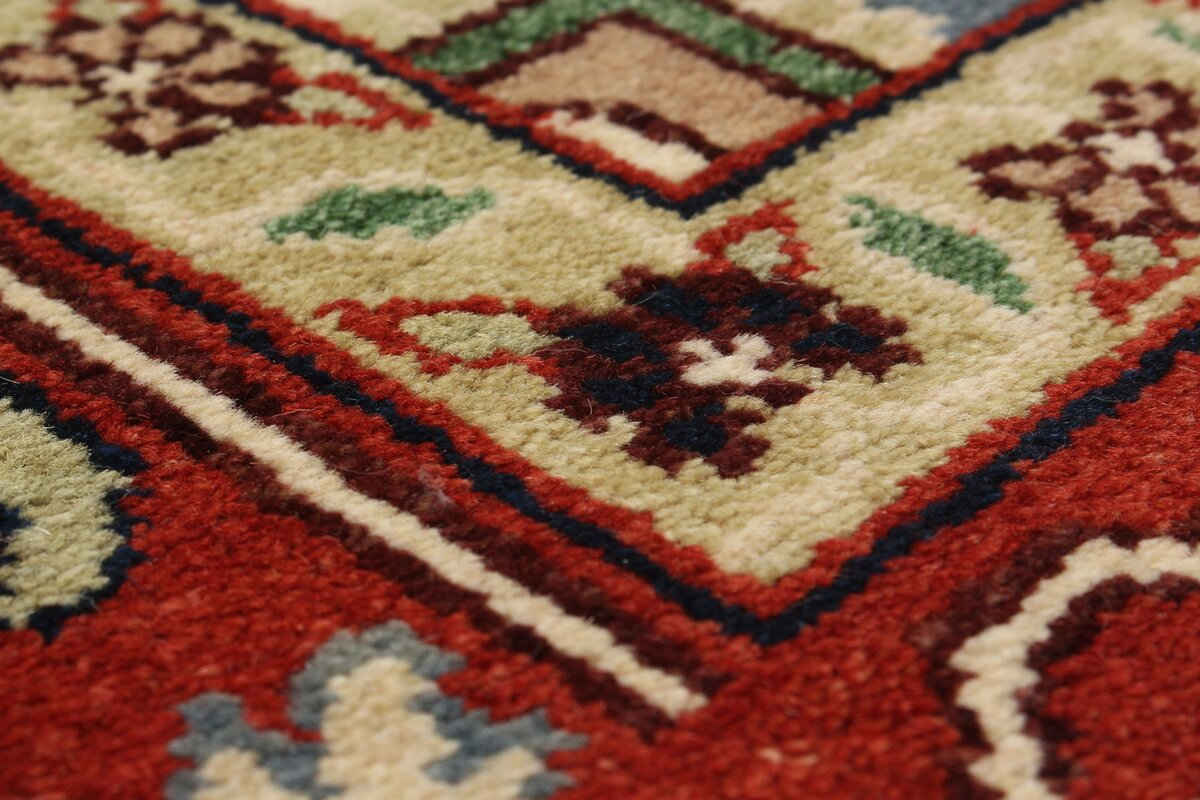 One Of A Kind Briggs Hand Knotted Wool Cream/Dark Copper Area Design Inspirations