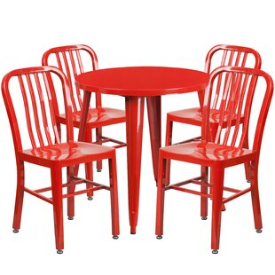 Claxton Metal Indoor/Outdoor 5 Piece Dining Set