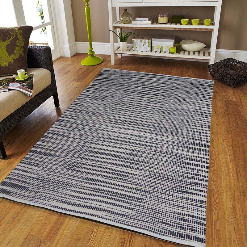 Homesteadelements Stroman Abstract Handmade Flatweave Cotton Black White Area Rug Wayfair