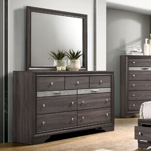 Rose 9 Drawer Dresser with Mirror