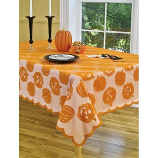 Pumpkin Patch Oblong Lace Tablecloth
