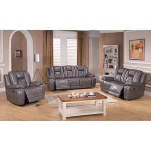 Discount Fae Reclining 3 Piece Living Room Set Red Barrel Studio