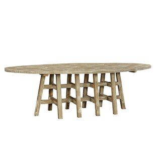 Decade Oval Solid Wood Dining Table by Fu..