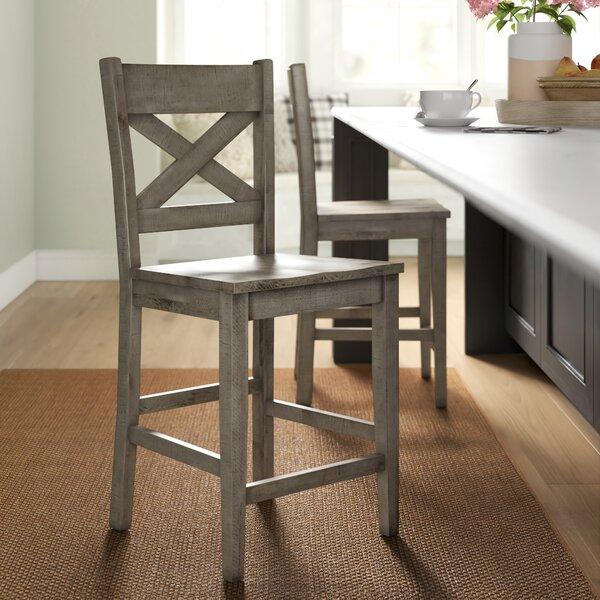Canora Grey Grygla Solid Wood 24 Counter Stool Reviews Wayfair
