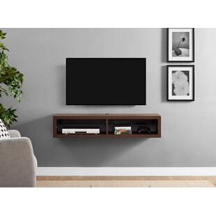 Shallow Wall Mounted TV Stand for TVs up to 48