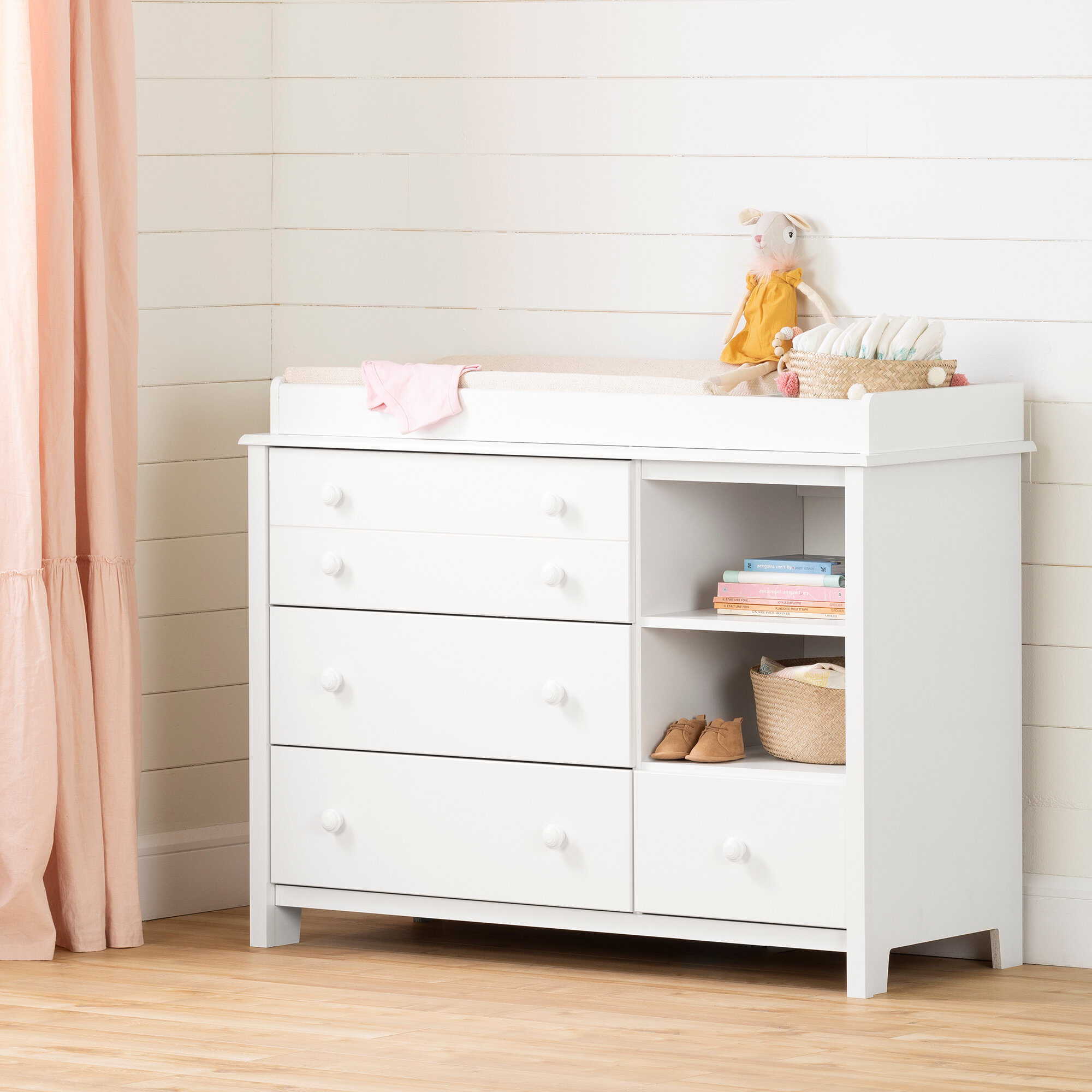 Image of: South Shore Little Smileys Changing Table Dresser Reviews Wayfair Ca