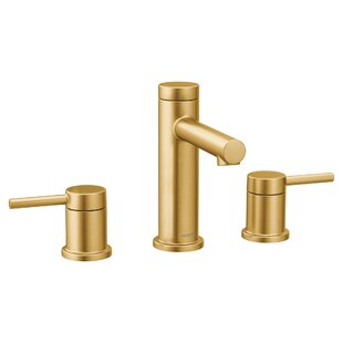 modern contemporary brushed brass bathroom faucet allmodern rh allmodern com brass bathroom faucet widespread brass bathroom faucets delta