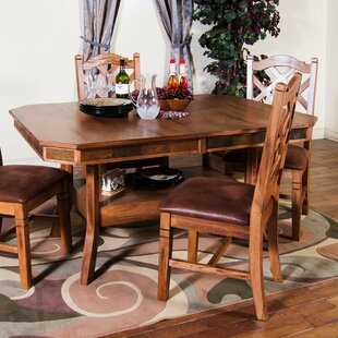 Fresno Solid Wood Dining Table by Loon Peak Great Reviews