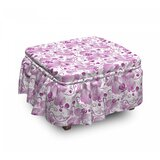 Orchid Ornate Floral Curly Leaf 2 Piece Box Cushion Ottoman Slipcover Set by East Urban Home