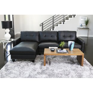 Red Barrel Studio Elverson Leather Reversible Sectional