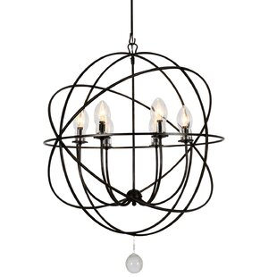 Rosdorf Park Rosalie 6-Light Outdoor Chandelier