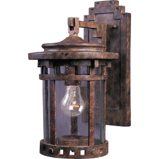 Carcassonne 1 Light Outdoor Wall Lantern by Loon Peak