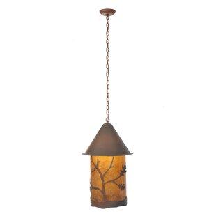 Meyda Tiffany Oak Leaf and Acorn 1-Light Lantern Pendant