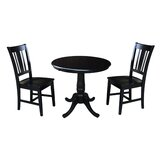 Politte 3 Piece Extendable Solid Wood Dining Set by Charlton Home®