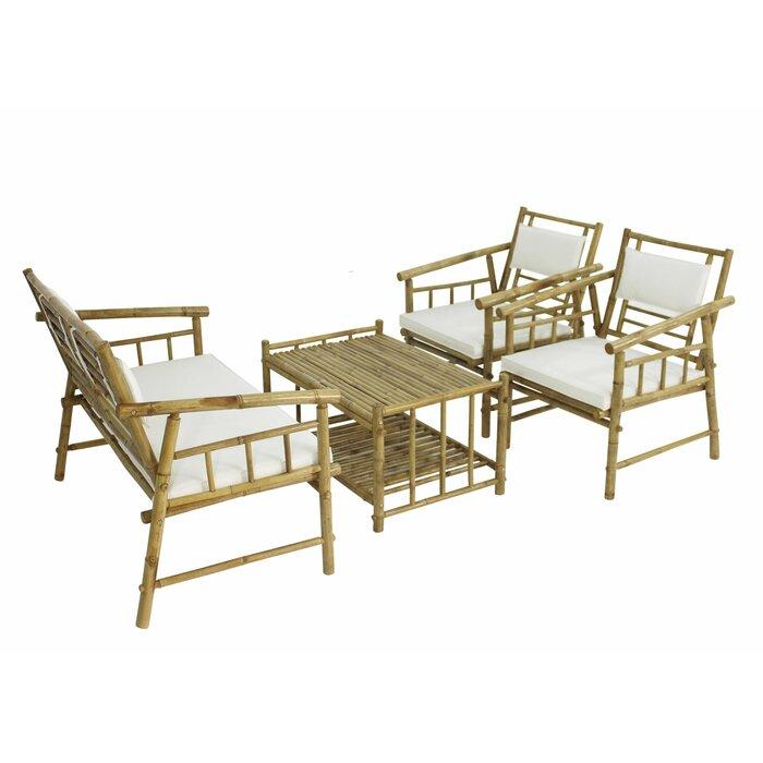 Dunton Bamboo 4 Piece Living Room Set